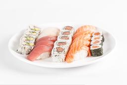 Combinado de salmão e atum 30 peças