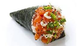Temaki filadélphia ou salmão