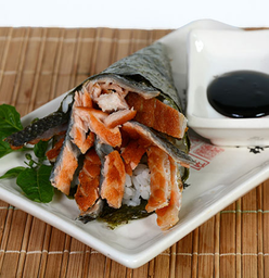 Temaki salmão skin