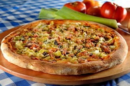 1/2 Pizza De Alho Poró
