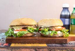 Combo 2 Cheeseburgers + 2 Refris