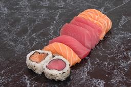 Combinado express salmão e atum