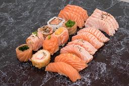 Combinado do chefe salmão