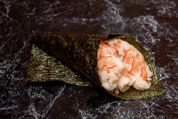 Temaki camarão (corte em tiras)
