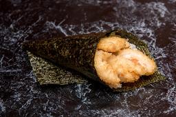Temaki camarão empanado (corte em tiras)