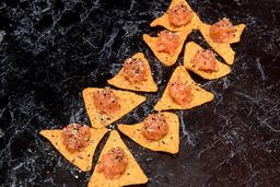 Nachos com salmão