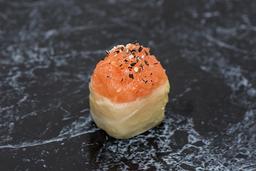 Acelgamaki salmão