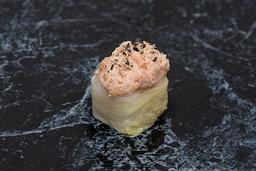 Acelgamaki salmão empanado