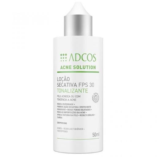 Loção Adcos Acne Solution Secativa Fps 30 50 mL