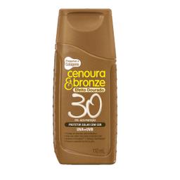 Protetor Solar Cenoura E Bronze Fps30 Efeito Dourado 110 mL