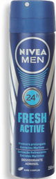 Desodorante Nivea Aerosol Masculino Fresh Active 90 g