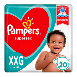 Fralda Pampers Supersec Nv Xxg Com 20 Und