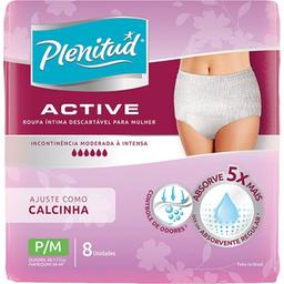 Fralda Plenitude Act Mulher Para Masculino 8 Und