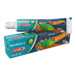 Gel Dental Condor Hotwheels 2 A 5 Anos
