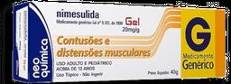 Nimesulida Neo Química Gel 40 g