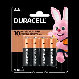 Pilha Duracell Alc Pequena Aa Com 4 Und