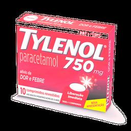 Tylenol 750Mg 10 Comprimidos
