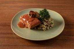 Baião de dois (arroz e feijão-fraldinho)