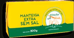 Manteiga Aviação Extra Sem Sal Tablete 200 g