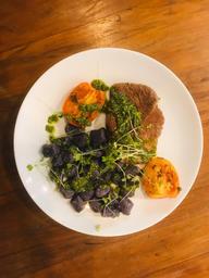 Nhoque de Batata Doce com Filet Mignon