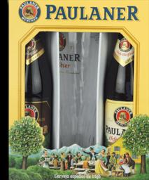 Kit 2 Cervejas Paulaner Hefe-Weissbier + Um Copo - Cód 299114