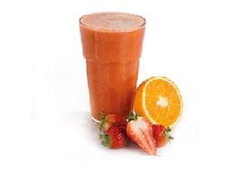 Suco Natural de Morango com Laranja - 300ml