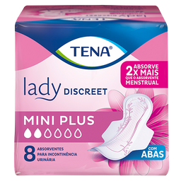 Absorvente Tena Lady Discreet Mini Plus 8 unid