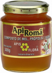 Apiroma Mel Com Própolis E Roma 300 g