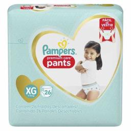 Fralda Pampers Pants Mega Xg Com 26 Und