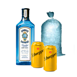 Combo Gin Bombay&Tônica Schweppes