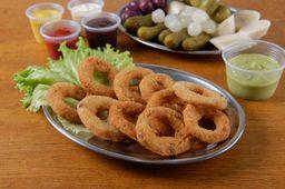 Onion rings + refrigerante 200ml