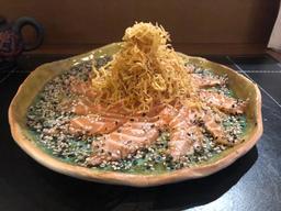 Sashimi de salmão kimasu especial trufado
