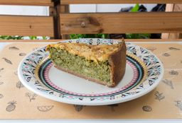 Torta de Brócolis Cremoso - Fatia