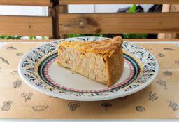 Torta de Frango com Palmito - Fatia