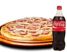 Combo Pizza Grande e Coca-Cola