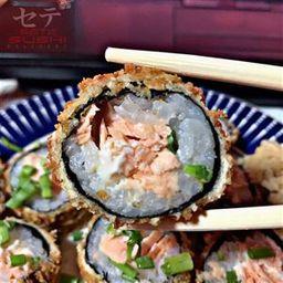 Hot salmão grelhado com geléia de pimenta