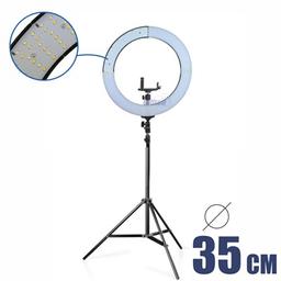 Iluminador Ring Light Para Maquiadores E Film Bi-Color + Tripé