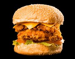 Burguer chicken dooble + 1 molho especial