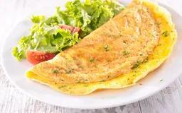 Crepioca tradicional com 3 recheios + mni salada gratis