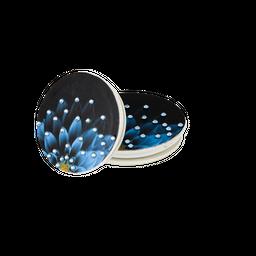 Pop Socket Com Cristais Flor Azul