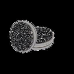 Pop Socket Com Cristais Preto