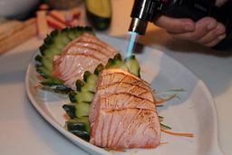 5 sashimis de salmao toste