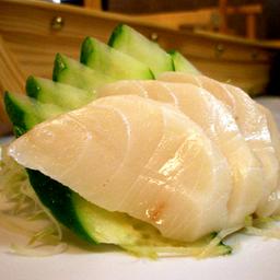 5 sashimis de peixe branco