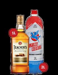 Combo Whisky Teachers + Flying Horse