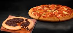 Pizza Borda Média + Pizza de Brigadeiro