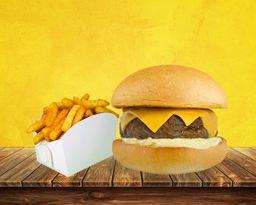 Tasty burger bacon + fritas