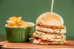 Hambúrguer Double Especial de Frango