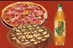 Pizza 45cm e Pizza Doce com Kuat 2 litros
