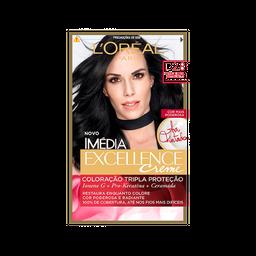 Kit Tintura Imédia Excellence L'Oréal Preto Extra Profundo 2.8