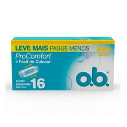 Ob Absorvente Medio Pro Comfort Com 16 Leve+Pague